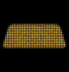 Treasure brick halftone icon vector