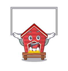 Up board chicken coop isolated in mascot vector