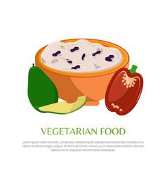 vegetarian food healthy squash and vegetables vector image