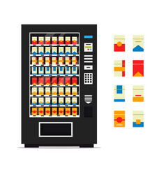 vending machine with cigarettes isolated on white vector image