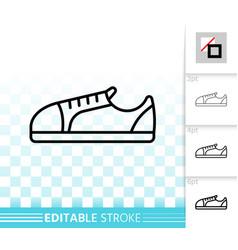 women shoes simple black line icon vector image
