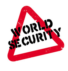 World security rubber stamp vector