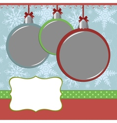 Xmas photo frame vector