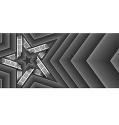 film strip star vector image