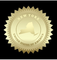 Gold star label New York vector image vector image