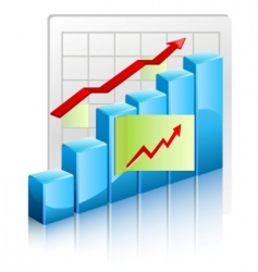 growing charts vector image