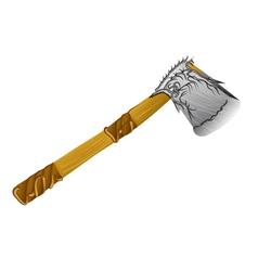 lumber decorative axe vector image