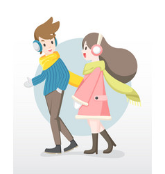 man and woman enjoy talking to each other vector image