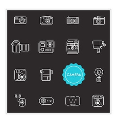 Set of Camera Photo Elements can be used as Logo vector image vector image
