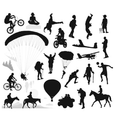 Summer activities and extreme sports set vector image vector image
