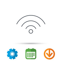 Wifi icon wireless wi-fi network sign vector