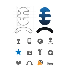 Designers icons for leisure vector image vector image