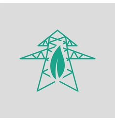 Electric tower leaf icon vector image