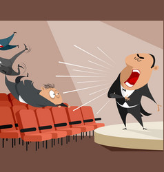 opera singer on stage vector image