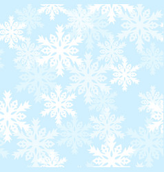 seamless pattern with with snowflakes background vector image