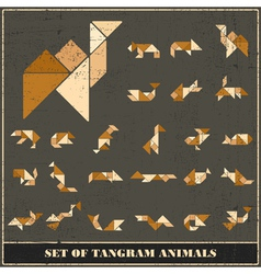 Set of wild animals and birds vector image vector image