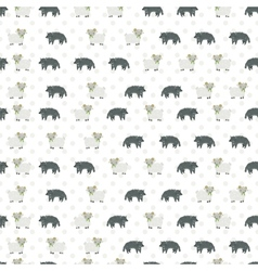 Sheep and wolf pattern vector image