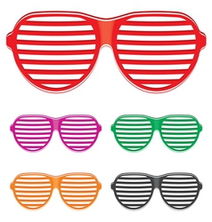 shutter shades sun glasses collection vector image vector image