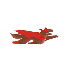 superhero dog character flying super dog dressed vector image