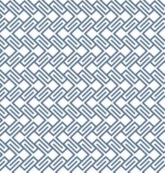 Geometric wattled seamless pattern vector image