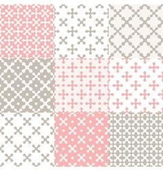 Pattern set cross vector image vector image
