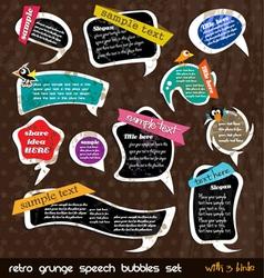 retro grunge speech vector image