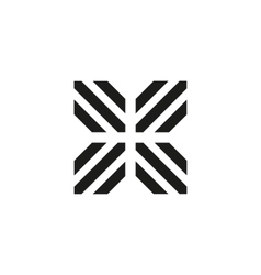 Unusual geometric letter X Architecture vector image