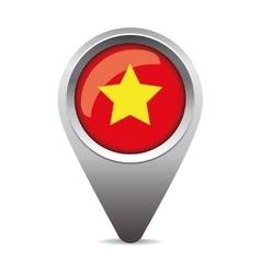 Vietnam flag pointer vector image vector image