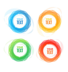 colorful round abstract banners shape set vector image vector image