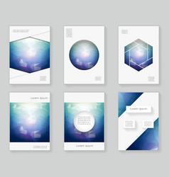 poligonal light in the dark over design template vector image vector image