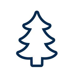 silhouette tree pine christmas decoration vector image