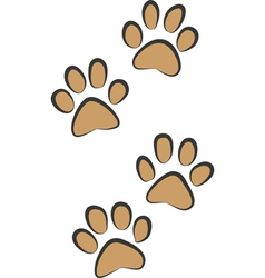 traces of cat vector image