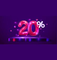 20 percent off discount creative composition vector