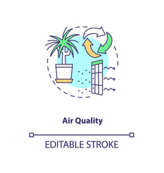 Air quality concept icon vector