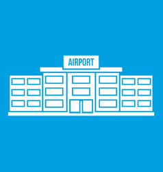 Airport building icon white vector