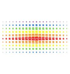 analytics chart spectrum halftone effect vector image