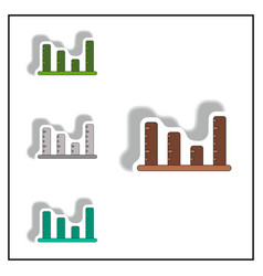 Bar graph business statistic vector