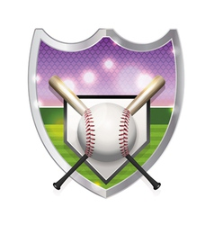 Baseball Badge Emblem vector image