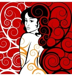 Beauty in Swirls vector image