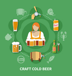 Beer flat vector