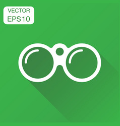 Binocular icon business concept binoculars vector