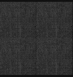 black grunge texture weaving fabric seamless vector image