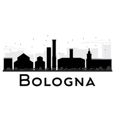 Bologna City skyline black and white silhouette vector image