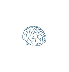 brain isometric icon 3d line art technical vector image