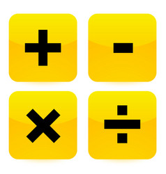 Bright vivid math symbols addition subtraction vector
