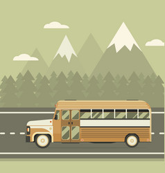 bus travel on highway concept vector image