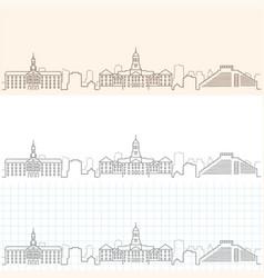 Cambridge hand drawn skyline vector