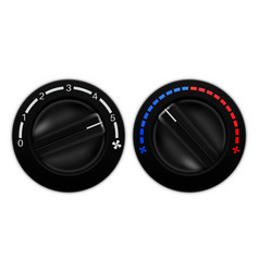 Car air conditioning black switches vector