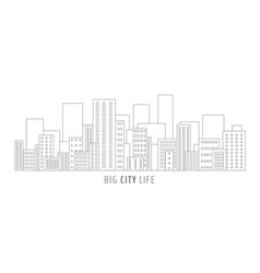 city scape outline vector image