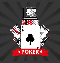 Club ace jack king and queen cards playing poker vector